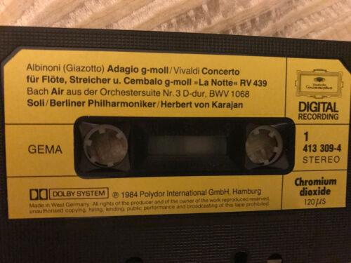 ALBINONI: ADAGIO ~ VIVALDI:  Bach  Gluck Mozart Pachelbel Cassette  Digital