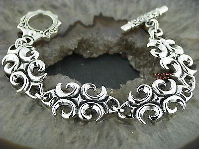 Silberarmband Silber 925 Tribal Tattoo Style Old School  Armband 16cm  Bracelet