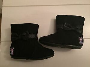 Size 4 Sesame Street boots + Size 5 sneakers