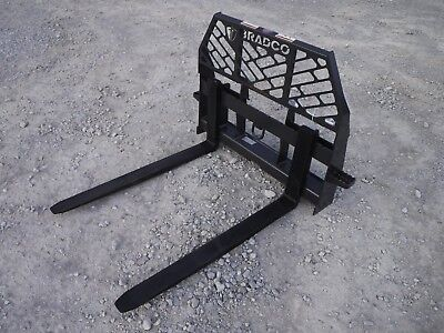 Bobcat Skid Steer Attachment - Bradco 42 5500 Pound Pallet Forks - Ship 199
