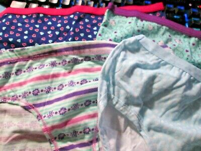 New Hanes,Cat&Jack,Fruit Loom Girls 4 Pair Panties Size 10 Cute Hearts/Cats/Dots, used for sale  Huntsville