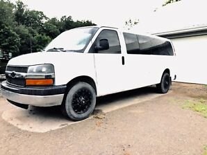 16 passenger Chevy express loaded!!