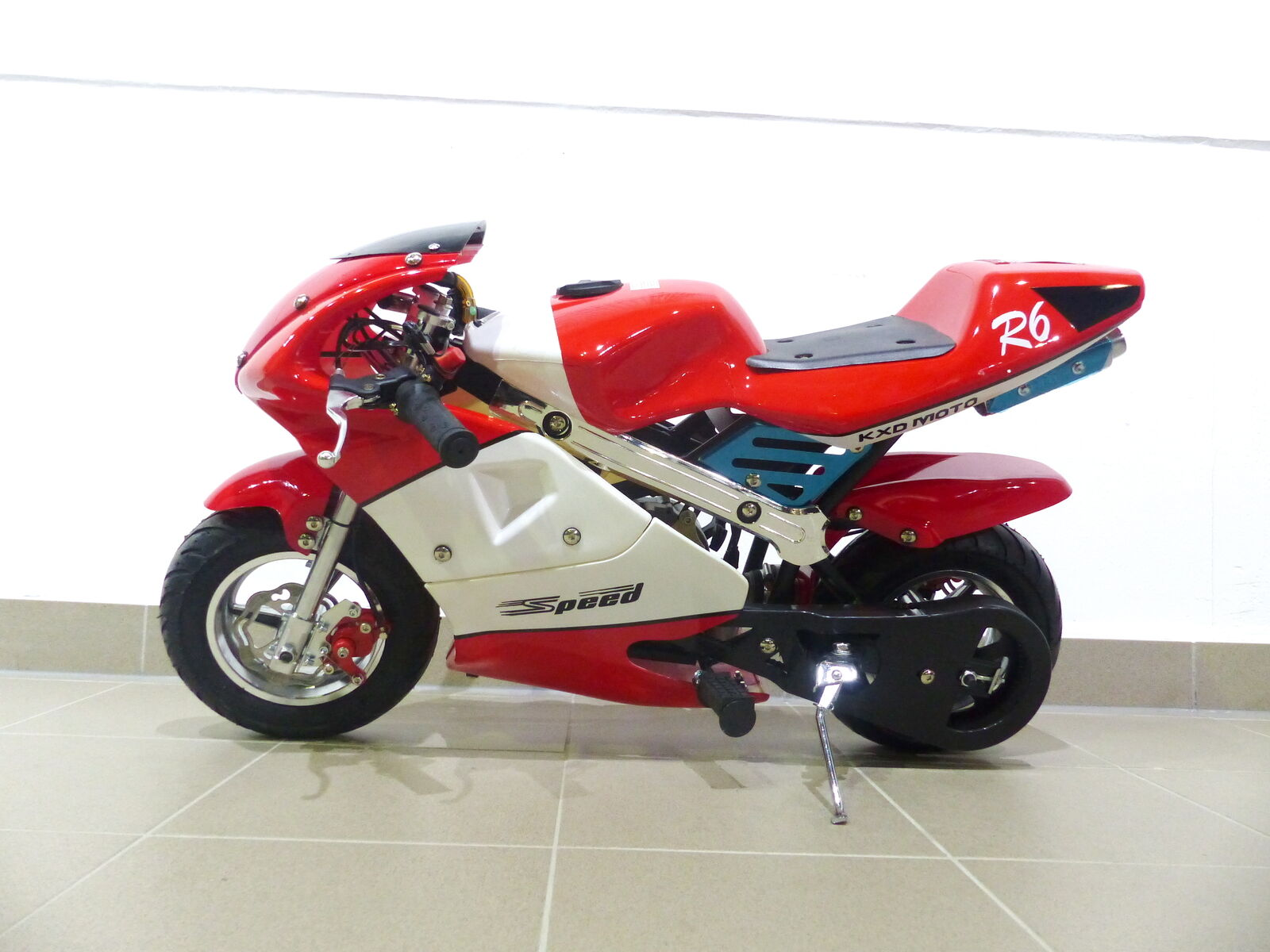 RV-Racing Pocketbike Dirtbike Pocket Rennbike Minibike 49ccm Kindermotorrad Rot