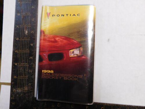 1998 PONTIAC SALESMAN POCKET BOOK