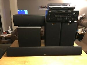 Yamaha,Polk Audio Component Stereo Home Theatre.