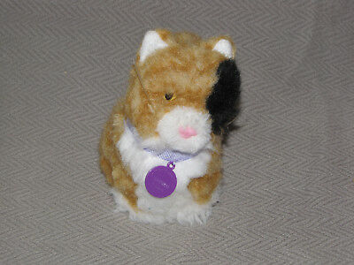 """American Girl Doll Calico Cat Kitten GINGER 5"""" Stuffed Plush Toy with collar"""