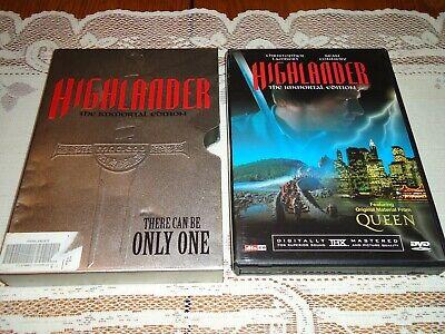 Highlander (DVD, 2002, 2-Disc Set, Immortal Edition Tin Case Bonus Queen CD)