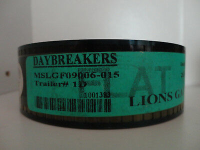Daybreakers 35mm Movie Trailer #1D Flat  Film Cell Collectible 2min 25sec