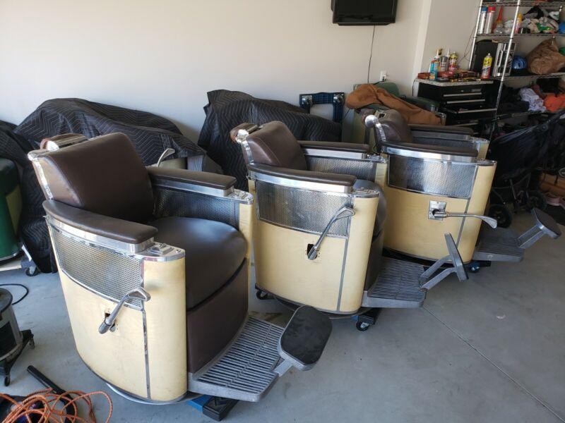 KOKEN PREMIER barber Chair Set Of 3 1961