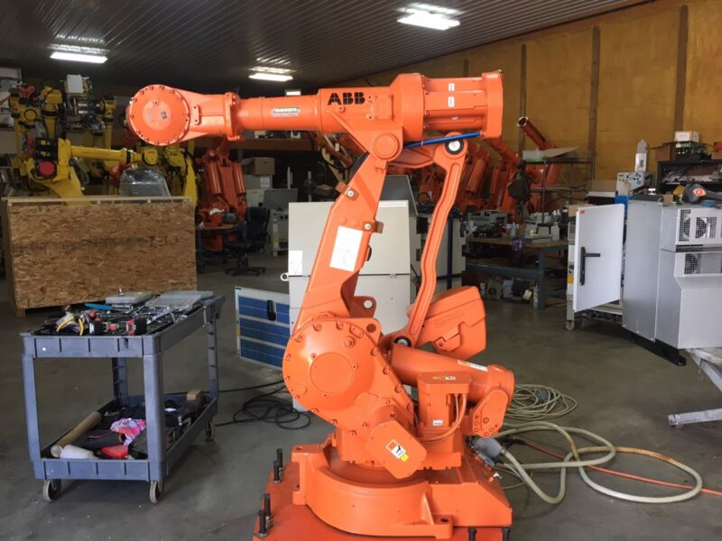 abb 4400 robot arm floor mounting plate