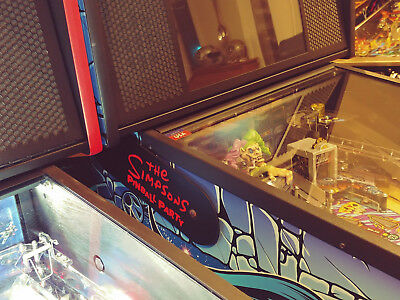 The Simpsons Pinball Party Stern Lighted Magnetic Hinge Covers EL Panel Mod-Red