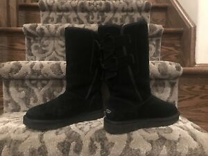 NEW Tall Ugg Boot Allegra Black SZ: 6