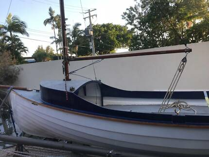 16 ft wooden sail boat fully restored