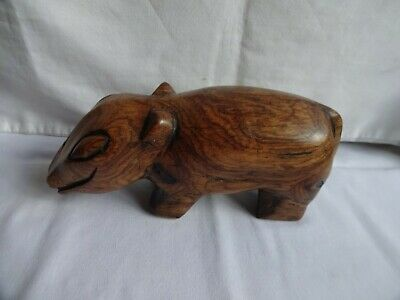 ANTIQUE HAND CARVED WOODEN ANIMAL HEIGHT 10 X 23 X 7 cm WEIGHT 755 grams