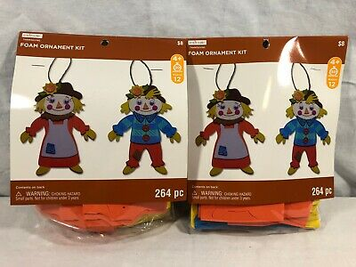 Creatology Scarecrow Foam Ornament Kit Set Of 2 Makes 24 NEW Fall Thanksgiving