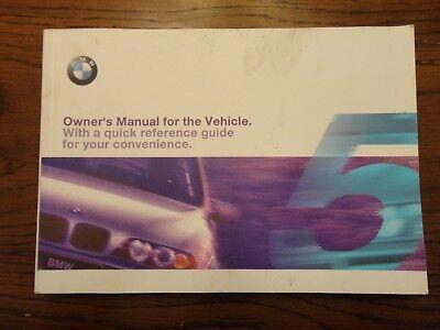 BMW E39 OEM Owners Manual Booklet 5-Series 525i 530i 540i Sedan Sport Wagon