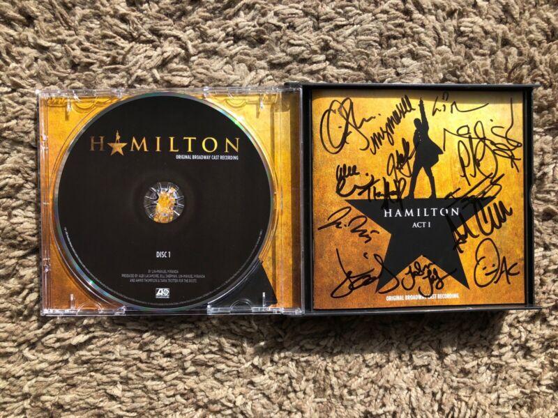 SIGNED Hamilton Original Broadway Cast Recording CD - Lin-Manuel Miranda