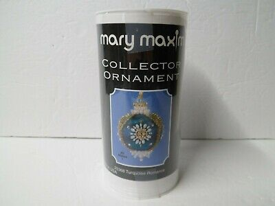 Mary Maxim Collector Ornament Kit 25368 Turquoise Romance Christmas Holiday Bulb Holiday Bulb Ornament
