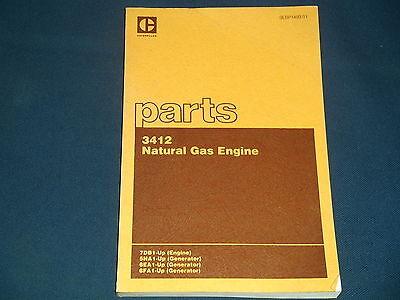 Cat Caterpillar 3412 Natural Gas Engine Parts Book Manual Sn 7db1-up