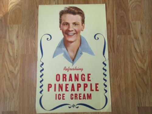 Original Vintage Ice Cream Advertising Poster