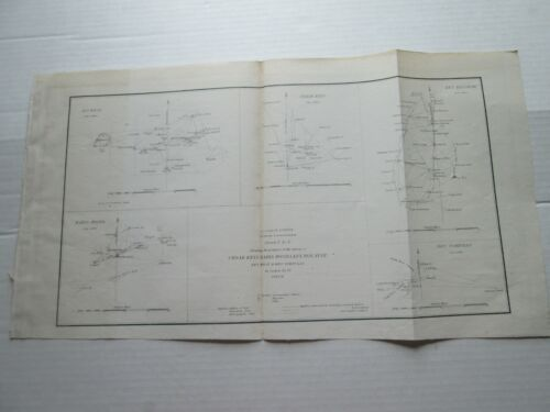 ONE (1) 1849-51 COAST SURVEY TRIAGULATIONS, CEDAR KEYS, BAHIA HONDA, BISCAYNE ++