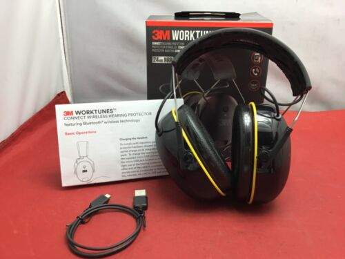 3M WorkTunes Call Connect Bluetooth Earmuffs Headphones Hearing Protection- USED