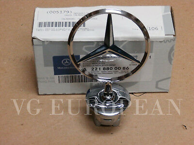 Mercedes-Benz S C E Class GENUINE Hood Star Chrome Emblem NEW !!!! OEM