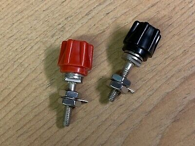 2 vintage NOS 4mm 70s 80s 90s Quality terminal binding posts CELESTION...