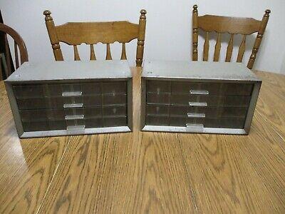 Unique Metal Cabinets 4 Drawers Each Vintage Storage Units Cabinet Organizer