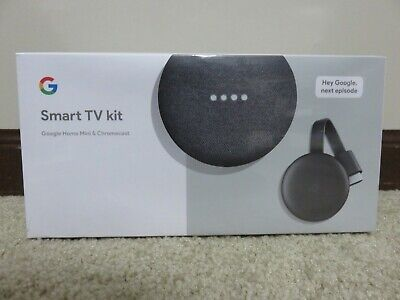 Google Smart TV Kit: Google Home Mini and Chromecast - Charcoal NEW- GA00545-US
