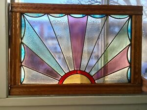 Vitrail Antique Vintage Stained Glass Window