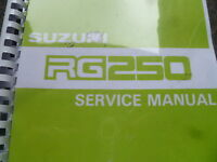 Suzuki Rg 250 H Service Manual For: 1987 Gamma Gj21b Ch 209 Pages Workshop - suzuki - ebay.co.uk