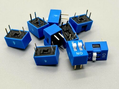 10 Pcs 2 Position Pin DIP Switch for arduino projects Breadboard Friendly