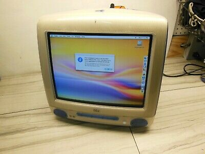 VINTAGE Apple iMac POWERPC G3 500mhz 512mb RAM M5521 10.3.9 TESTED