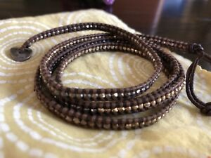 Authentic Chan Luu Leather Beaded Bracelet
