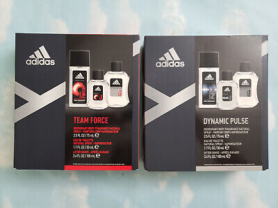 LOT(2) ADIDAS GIFT SET: DYNAMIC PULSE, TEAM FORCE Adidas Gift Sets