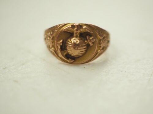 W.W.II Era USMC Marine Corp 10K Gold Ring