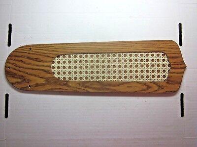 Rattan Blades (1 Vintage 1970s Ceiling Fan Blade Paddle Rattan Oak Wood Grain Repair See Sketch )