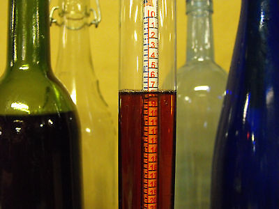 Deluxe Homebrew Hydrometer Thermometer Kit, Homebrewing, Beer Wine Making.