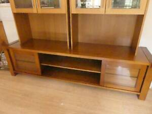Custom made wood entertainment or display unit