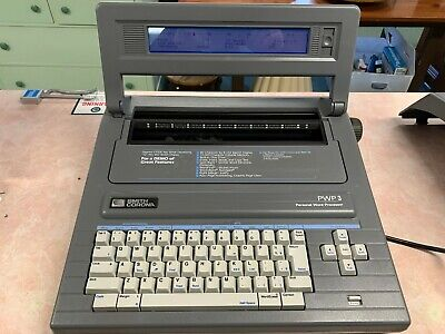 Smith Corona Electronic Typewriter Word Processor Pwp-3 With Cover