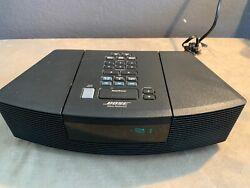 Bose Radio CD Player Alarm Clock Auxiliary iPod Input AWRC-1G Tested Works Black
