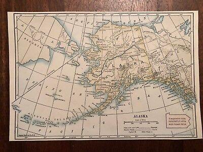 """Vintage Color ALASKA Print Plate 5.5"""" x 8.5"""" Unframed"""