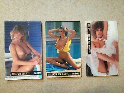 TK Telefonkarten Phonecard 3 Stück selten Deutschland Telefon Sex Karte