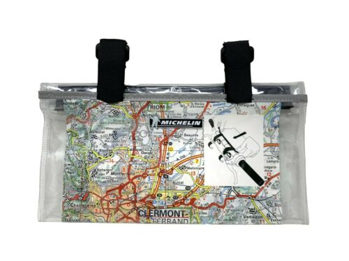 Michelin Waterproof Bicycle Map Holder - Handlebar Mount - 14 x 26cm