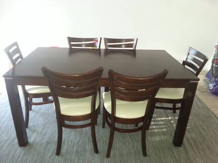 REDUCED For Urgent Sale Hobart Dining Table And 6 Chairs
