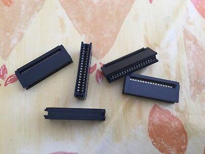 Lot de 5 connecteurs Card Edge 34 pin (2x17) à sertir sur câble plat.