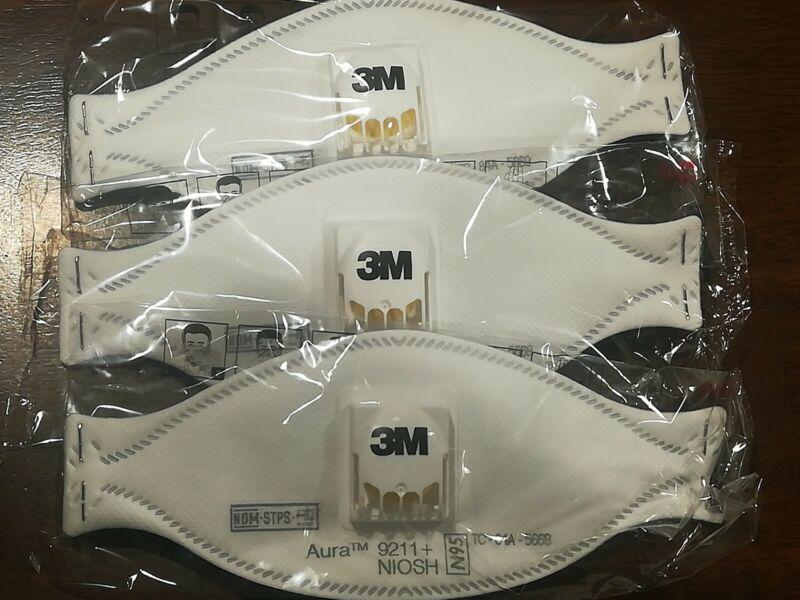 3M 9211 Aura- 3 Pack EXPIRES 2024 New Sealed