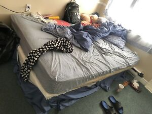 Queen size bed moving out sale