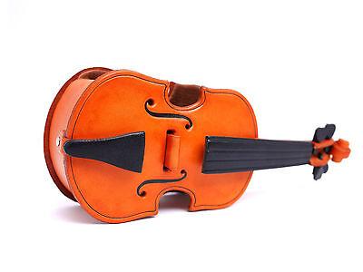 Violin Handmade Leather Eyeglasses Holder/Stand *VANCA* Made in Japan #26220